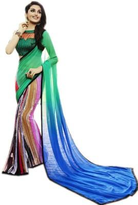 fabliva Printed Fashion Pure Georgette Sari