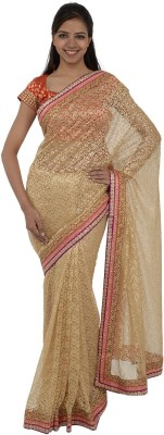 Inspira Solid Fashion Lace Sari