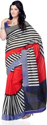 Ruda Striped Fashion Handloom Art Silk Sari