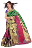 R D Fab Self Design Banarasi Art Silk Sa...