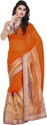 Balaji Creations Solid Bollywood Chiffon Sari