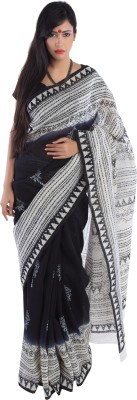 Kiara Crafts Printed Daily Wear Handloom Cotton Sari