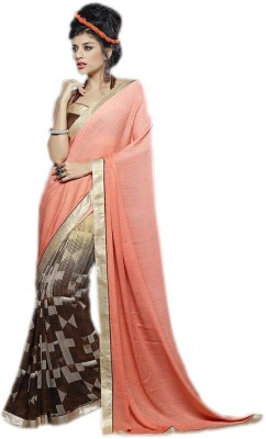 KL COLLECTION Geometric Print Fashion Lycra Sari
