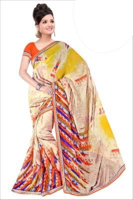 Madhuban Self Design, Printed, Graphic Print Fashion Synthetic Georgette Sari