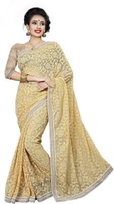 Ridhi Sidhi Self Design Fashion Brasso, Net Sari