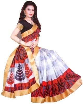Varsha Printed Fashion Jute Sari