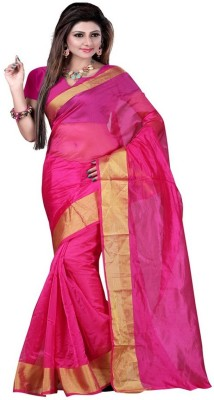 Lolla Fashion Plain Bollywood Art Silk Sari