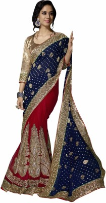 Aasvaa Embriodered Fashion Viscose Sari