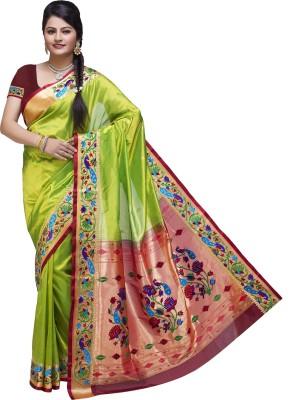 Ishin Printed Fashion Poly Silk Sari