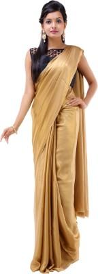 Inblue Fashions Solid Bollywood Georgette Sari