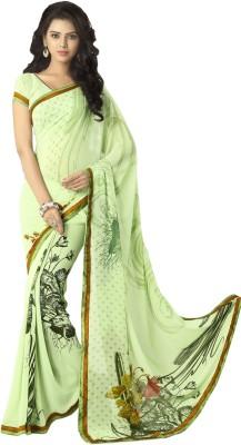 Myntas DXL Floral Print Fashion Georgette Sari