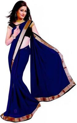 Bindani Studio Plain Gadwal Handloom Chiffon Sari