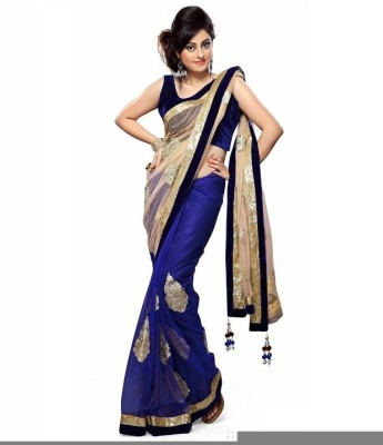 Mohit Fashion Self Design Bollywood Georgette Sari
