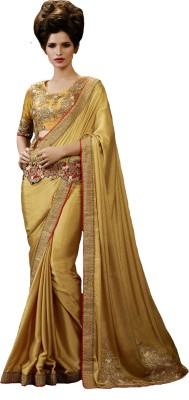 Archana Fashion Attire Embriodered Fashion Satin, Chiffon Sari