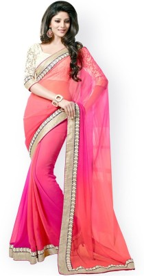 Krazy Choice Embriodered Rajshahi Georgette Sari