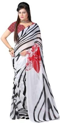Sukuma Printed Fashion Handloom Georgette Sari