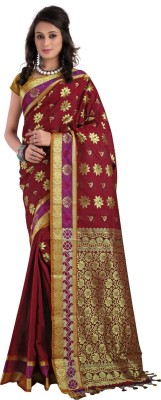 Shobha Sarees Self Design Kanjivaram Art Silk Sari