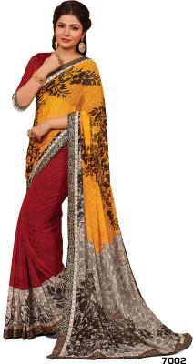 Hitansh Fashion Printed Fashion Georgette Sari