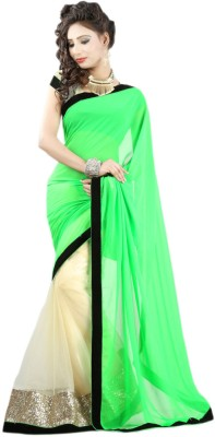 Sarika Fashion Solid Bollywood Net Sari