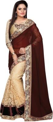 Bano Tradelink Embriodered Bollywood Brasso Sari