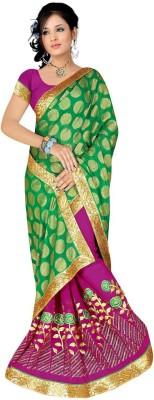 Shree Balaji Textile Self Design Bollywood Synthetic Sari