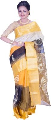 Jhumya Solid Tant Handloom Silk Cotton Blend Sari