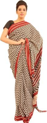 Aabeer Geometric Print Daily Wear Cotton Sari