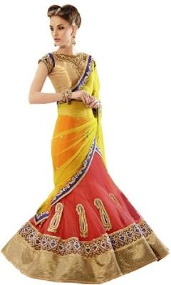 Snreks Collection Embriodered Fashion Net Sari