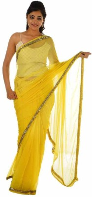 Geroo Embellished Fashion Georgette Sari