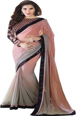 Aastha Textile Plain Bollywood Handloom Chiffon Sari