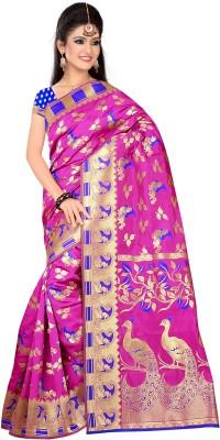 The Core Fashion Animal Print, Woven Fashion Handloom Jacquard Sari