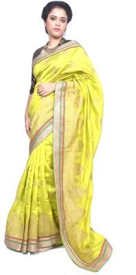 Tanjinas Paisley, Plain, Chevron Fashion Tussar Silk Sari