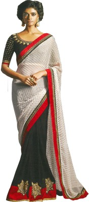 Krishna Self Design Bollywood Georgette Sari