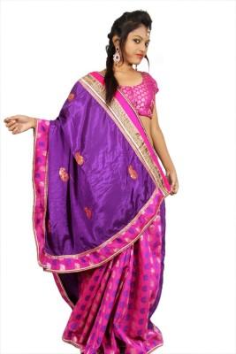Creativz Hand Self Design Bollywood Chanderi Sari
