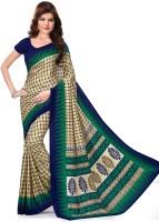 DESIGN WILLA Solid Mysore Synthetic Crepe Sari