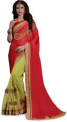 Shop Avenue Embriodered Fashion Chiffon, Net Sari