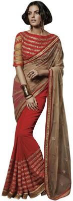 Aarrahh Self Design Bollywood Handloom Net Sari