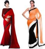 Tulsi Nx Solid Bollywood Chiffon Sari (P...
