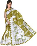 Moon Sarees Self Design, Floral Print Bo...