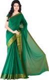 Roopkala Silks Solid Mysore Chiffon Sare...