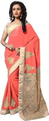 Dlines Embriodered Fashion Georgette Sari