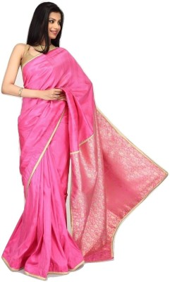 Sujatra Solid Banarasi Silk Sari