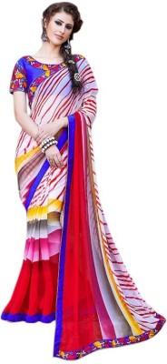 Kintu Designs Pvt. Ltd. Striped Fashion Georgette Sari