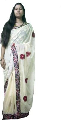 Ak designs Self Design Fashion Net Sari