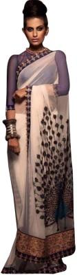 Shreeji Fashion Embriodered Fashion Georgette Sari