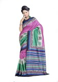 Miraan Printed Fashion Art Silk Saree (P...