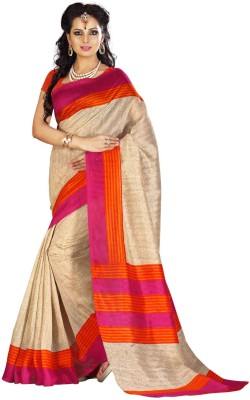 Cutie Pie Striped Fashion Handloom Silk Sari