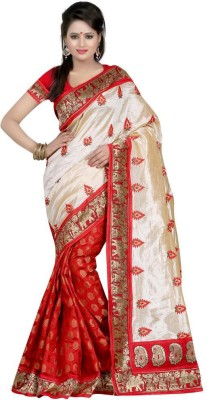 Kuki Fashion Embriodered Bollywood Chanderi Sari