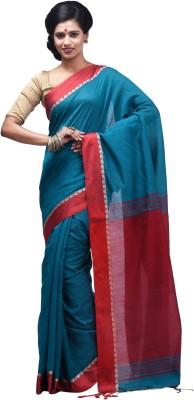 Creation Solid Shantipur Handloom Silk Cotton Blend Sari