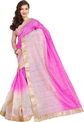 Urban Vastra Embriodered Bhagalpuri Dupion Silk Sari